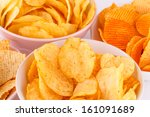 Potato And Wheat Chips In Bowl...
