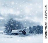 winter landscape  scenery    Shutterstock . vector #161091821