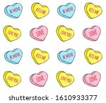 Vector Seamless Pattern Of Hand ...