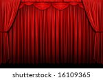 red stage curtain with arch... | Shutterstock . vector #16109365