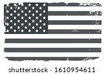 grunge vintage usa flag... | Shutterstock .eps vector #1610954611