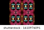 sheet design with abstract... | Shutterstock . vector #1610976091
