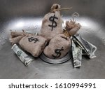 Money In Sink  Money Being...