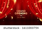realistic grand opening... | Shutterstock .eps vector #1611003754