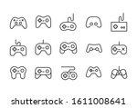 icon set of gamepad. editable... | Shutterstock .eps vector #1611008641