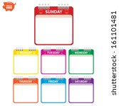 vector  colorful paper note... | Shutterstock .eps vector #161101481
