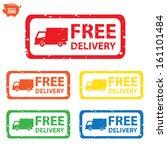 vector  stamp sticker free... | Shutterstock .eps vector #161101484