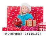 funny little girl around... | Shutterstock . vector #161101517