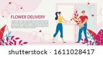 flower bouquet delivery service ... | Shutterstock .eps vector #1611028417