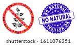 mosaic no flora plant icon and... | Shutterstock .eps vector #1611076351
