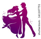 ball,beautiful,boy,cartoon,character,couple,dance,design,dress,fairytale,full,girl,gown,happy,illustration