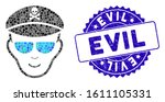mosaic evil soldier face icon...   Shutterstock .eps vector #1611105331