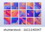 set of 15 papercut textures....   Shutterstock .eps vector #1611140347