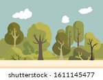 public park with nature...   Shutterstock .eps vector #1611145477