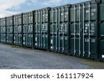 Line Of New Freight Containers...