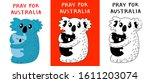 koala with cub fears from ... | Shutterstock .eps vector #1611203074