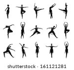 collection of different ballet... | Shutterstock . vector #161121281