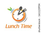 lunch time  | Shutterstock .eps vector #161123954