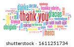 thank you colorful vector word...   Shutterstock .eps vector #1611251734