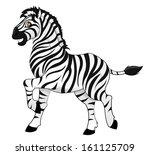zebra | Shutterstock .eps vector #161125709