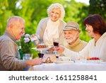 Smiling Group Of Seniors...