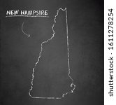 new hampshire map blackboard... | Shutterstock .eps vector #1611278254