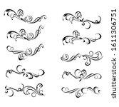 decorative monograms and... | Shutterstock . vector #1611306751