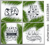 set of spa and relax letterings ...   Shutterstock .eps vector #1611328684