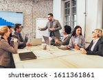 group of young business people... | Shutterstock . vector #1611361861
