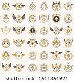 vintage heraldic emblems vector ... | Shutterstock .eps vector #1611361921