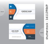 vector abstract business cards.  | Shutterstock .eps vector #161139869