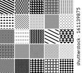monochrome patterns set.... | Shutterstock .eps vector #161139875