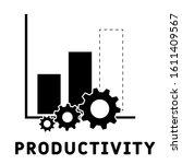 productivity icon. monochrome...