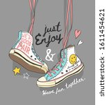typography slogan with hanging...   Shutterstock .eps vector #1611454621