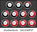 progress indicators set | Shutterstock . vector #161146937