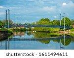 Suspension Bridge At Exeter...