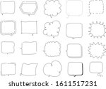 frame word tag text message... | Shutterstock .eps vector #1611517231