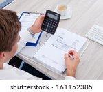 happy young businessman... | Shutterstock . vector #161152385
