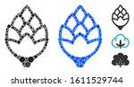 hop bud mosaic of filled... | Shutterstock .eps vector #1611529744