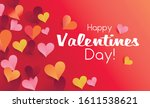 valentine card origami style... | Shutterstock .eps vector #1611538621