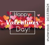 valentine card origami style... | Shutterstock .eps vector #1611538624