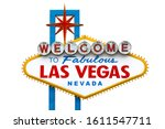 welcome to fabulous las vegas... | Shutterstock . vector #1611547711