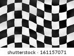 sports background checkered flag | Shutterstock . vector #161157071