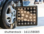 car wheel fixed with... | Shutterstock . vector #161158085