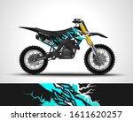 motocross wrap decal design...   Shutterstock .eps vector #1611620257