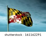 maryland  usa  flag waving in... | Shutterstock . vector #161162291