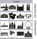 Landmarks Of London. Set Of...