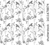 watercolor seamless pattern of... | Shutterstock . vector #1611678874