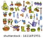 vector stock set with gardening ... | Shutterstock .eps vector #1611691951