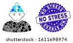 mosaic head stress icon and... | Shutterstock .eps vector #1611698974